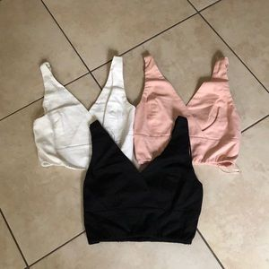 Cotton candy crop tops